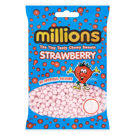 Millions Strawberry Bag 100g (Box of 12)