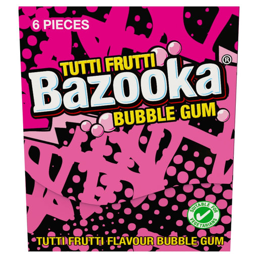Tutti Frutti & Raspberry Bazooka Bubble Gum, 33g (Pack of 12)