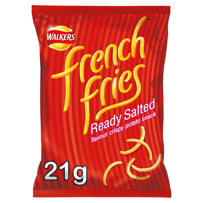 Walkers French Fries Ready Salted Snacks, 21g (Box of 32)