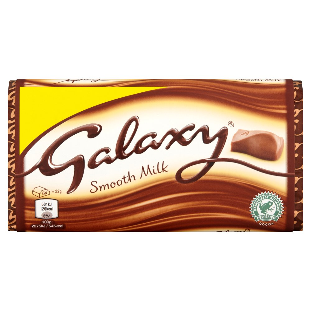 Galaxy Smooth Milk Chocolate Block, 110g (Box of 24)