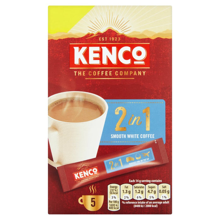 Kenco 2 in 1 Smooth White Instant Coffee (Box of 7)