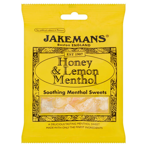 Jakemans Honey & Lemon Menthol Soothing, 100g (Box of 10)