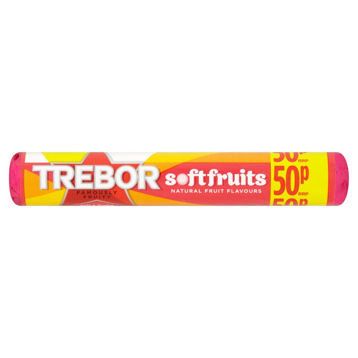 Trebor Softfruits Sweets Roll, 44.9g (Box of 40)
