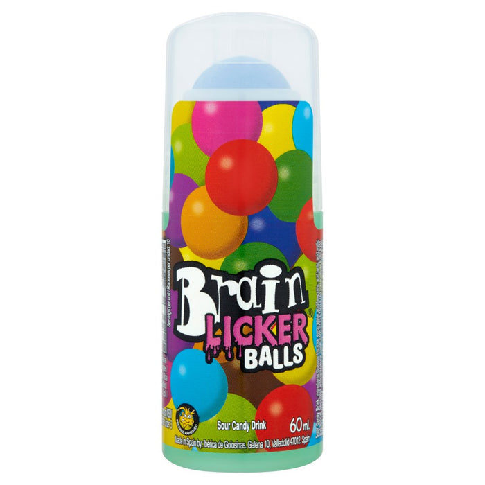 Brain Licker Balls Sour Candy Drink, 60ml (Case of 12)