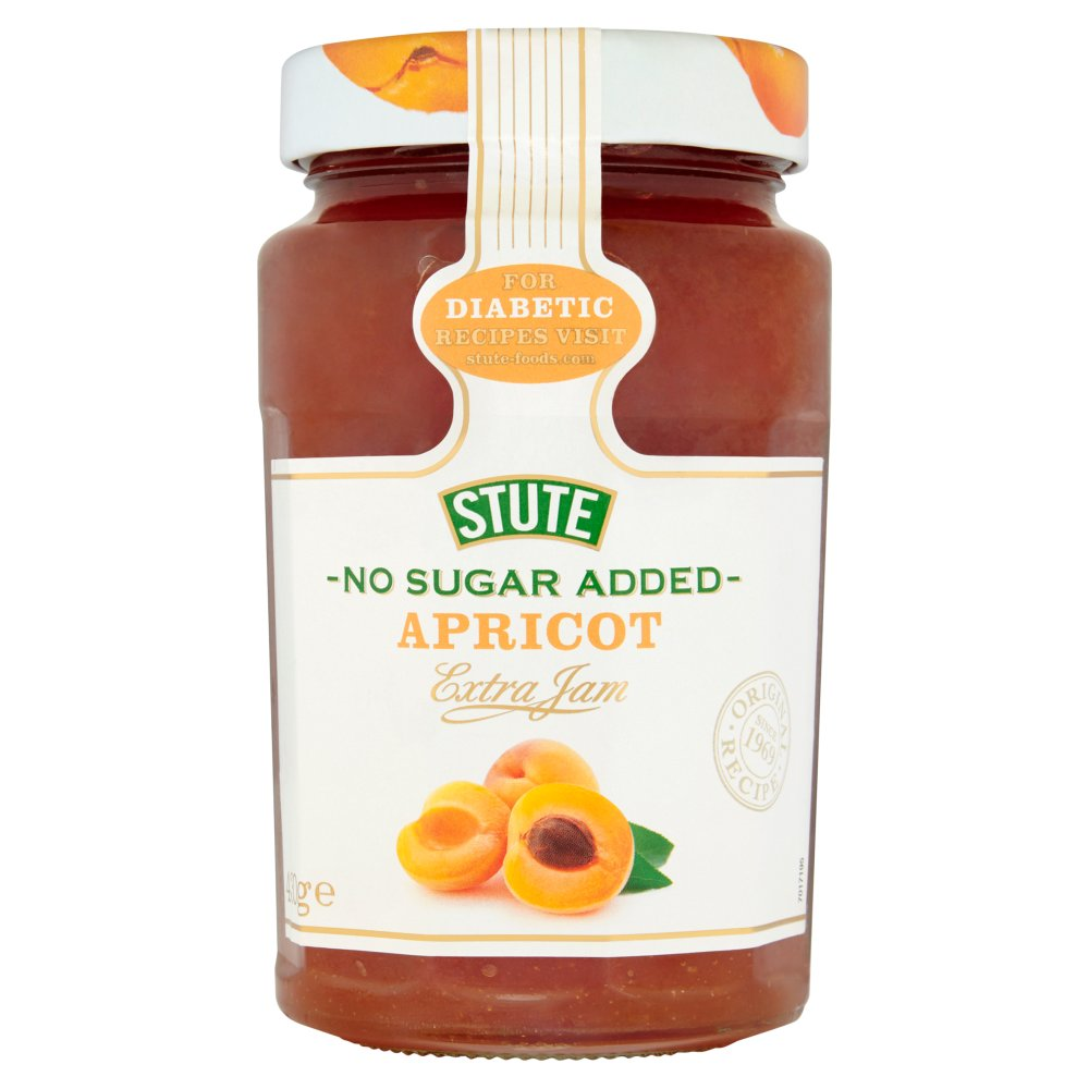 Stute No Sugar Added Apricot Jam, 430g