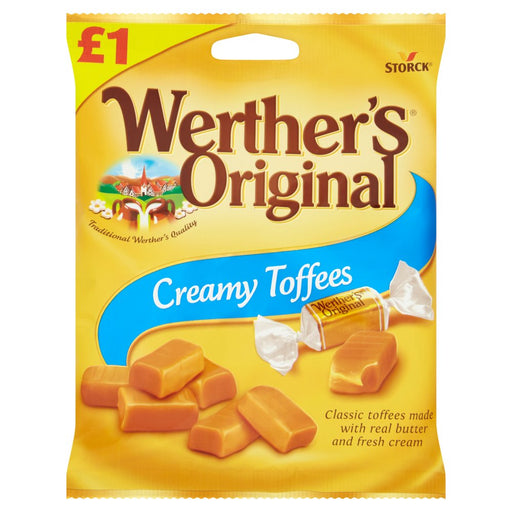 Werther's Original Creamy Toffees, 110g (Box of 12)