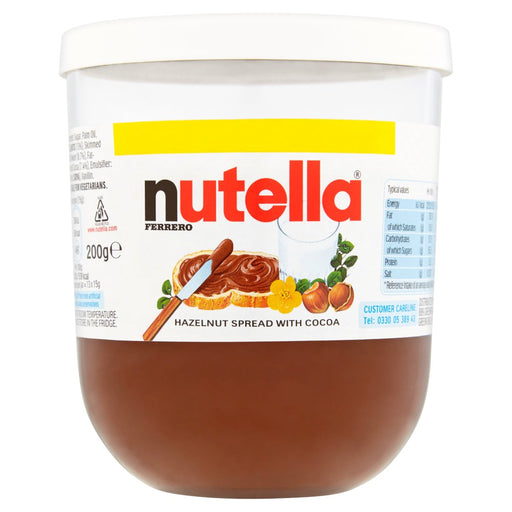 Nutella Hazelnut and Cocoa Spread Jar 200g