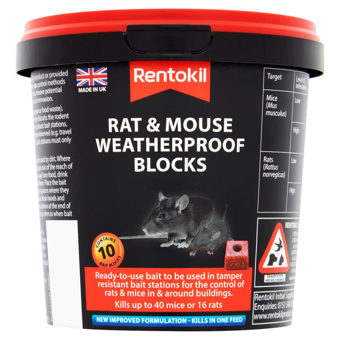 Mouse & Rat Weatherproof Blocks