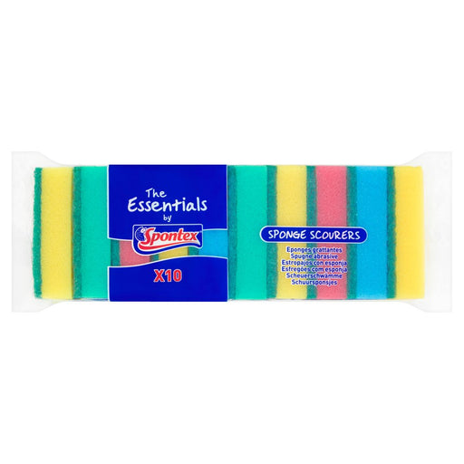 The Essentials by Spontex 10 Sponge Scourers (Box of 6)