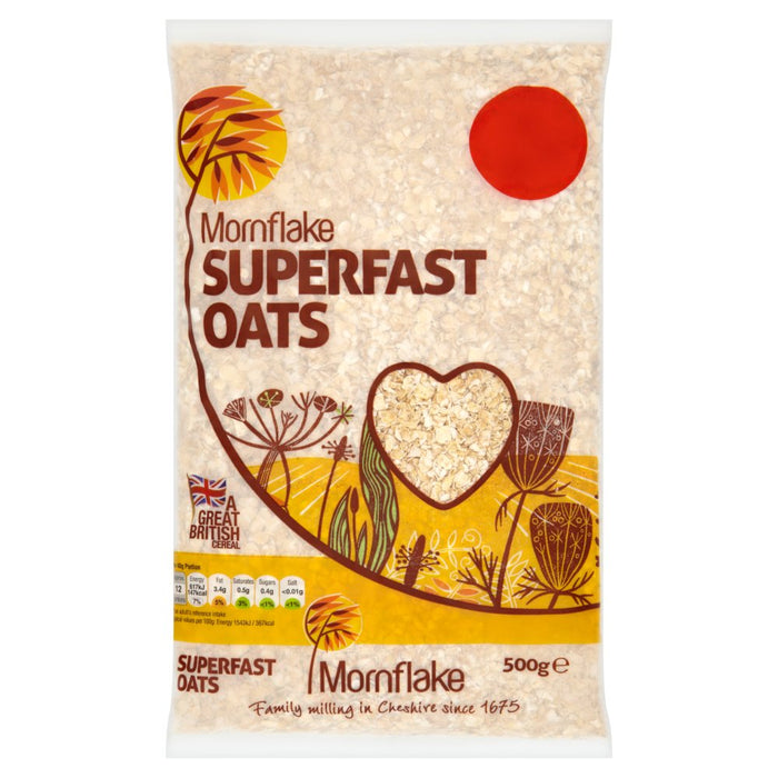 Case of 12 x Mornflake Superfast Oats, 500g