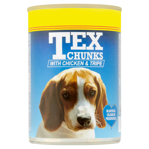 Tex Chunks with Chicken & Tripe, 400g (Pack of 12)