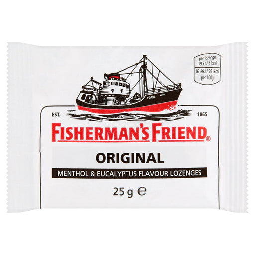 Fisherman's Friend Original Menthol & Eucalyptus Flavour Lozenges, 25g (Pack of 6)