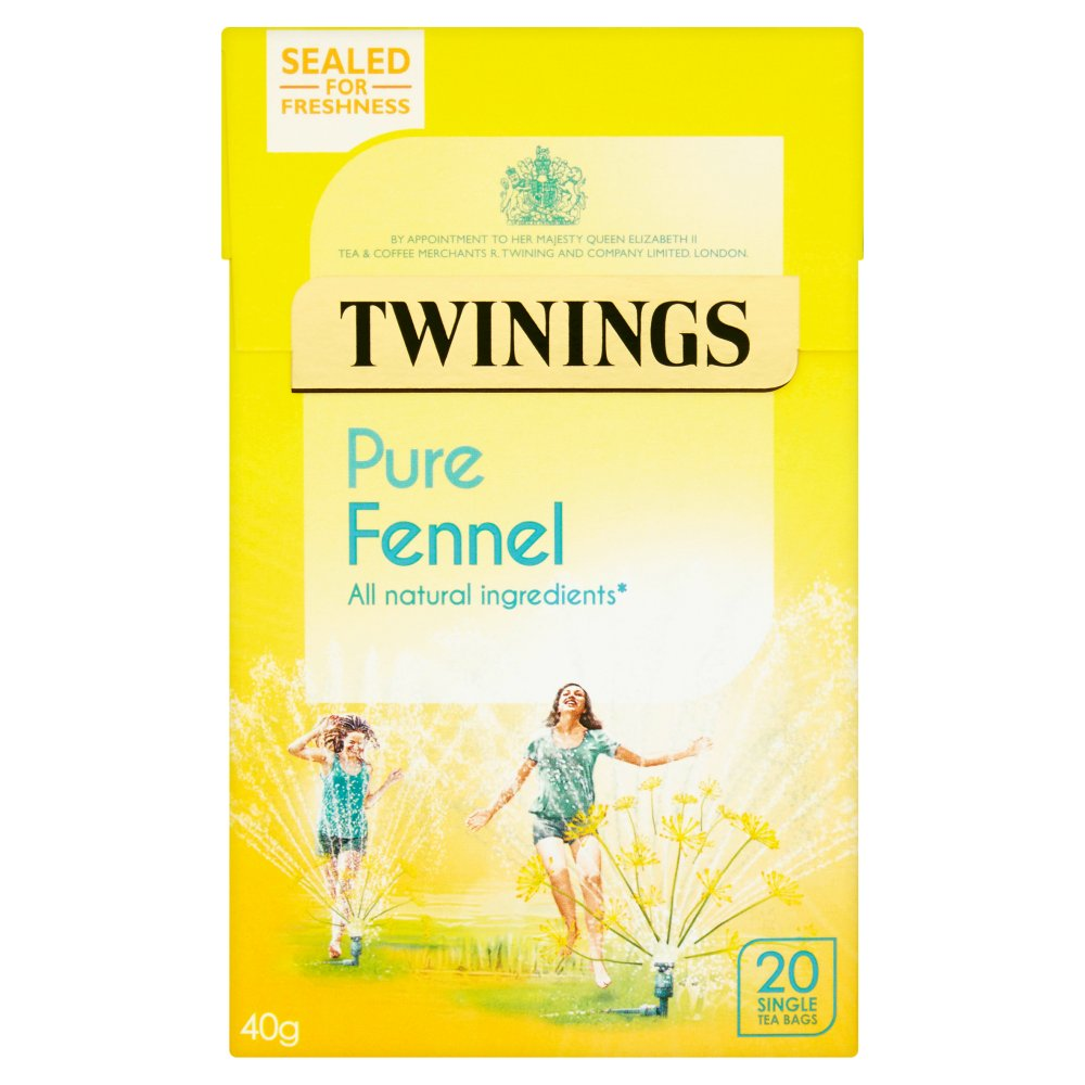 Twinings Pure Fennel 20 Single Tea Bags 40g (Box of 4)