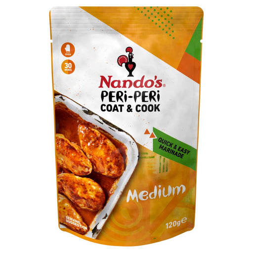 Nando's Peri-Peri Coat & Cook Medium, 120g