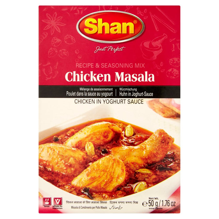 Shan Chicken Masala & Seasoning Mix, 50g (Pack of 6)