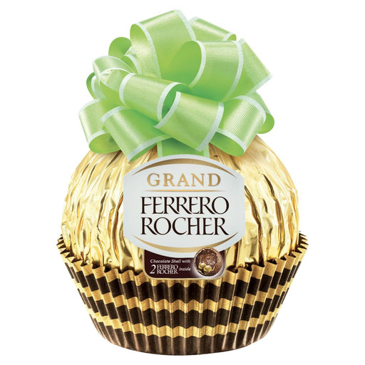 Ferrero Rocher Grand Chocolate Shell with 2 Ferrero Rocher Inside, 125g (Pack of 8)