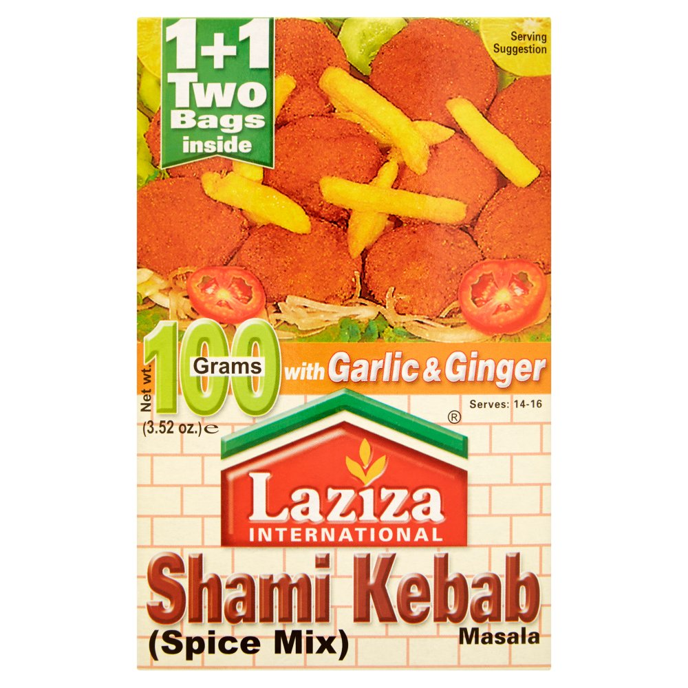 Laziza International Shami Kebab Masala Spice Mix, 100g (Pack of 6)
