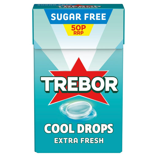 Trebor Cool Drops Extra Fresh Mint, 28g (Pack of 12x28g)