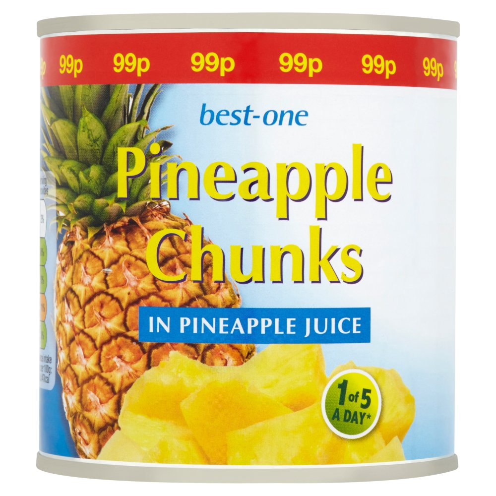 Best-One Pineapple Chunks in Pineapple Juice, 425g