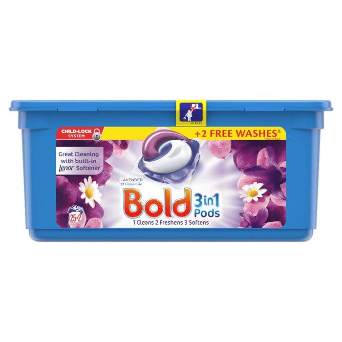 Bold 3in1 Pods Lavender and Camomile Washing Liquid Capsules 25+2 Washes
