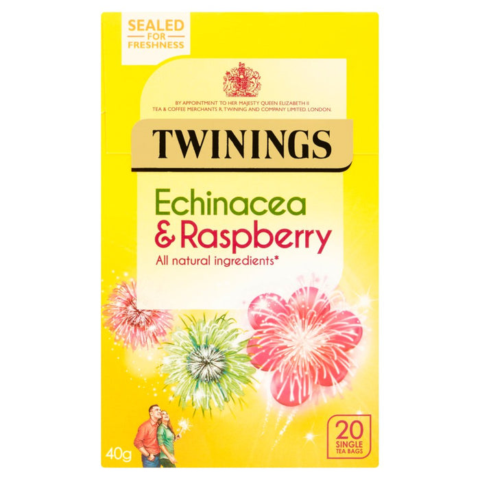 Twinings Echinacea & Raspberry 20 Single Tea Bags 40g (Box of 4)