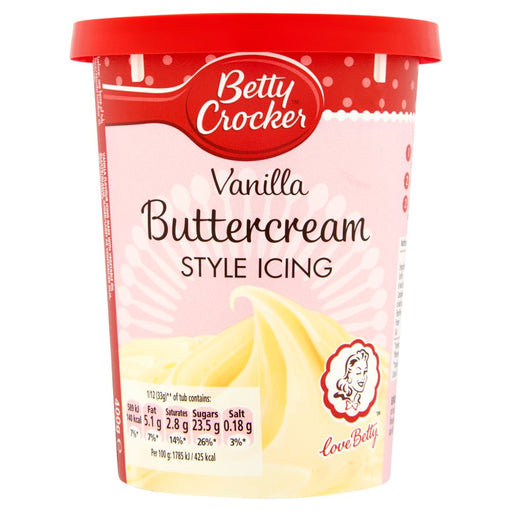 Betty Crocker Vanilla Buttercream Flavour Icing, 400g