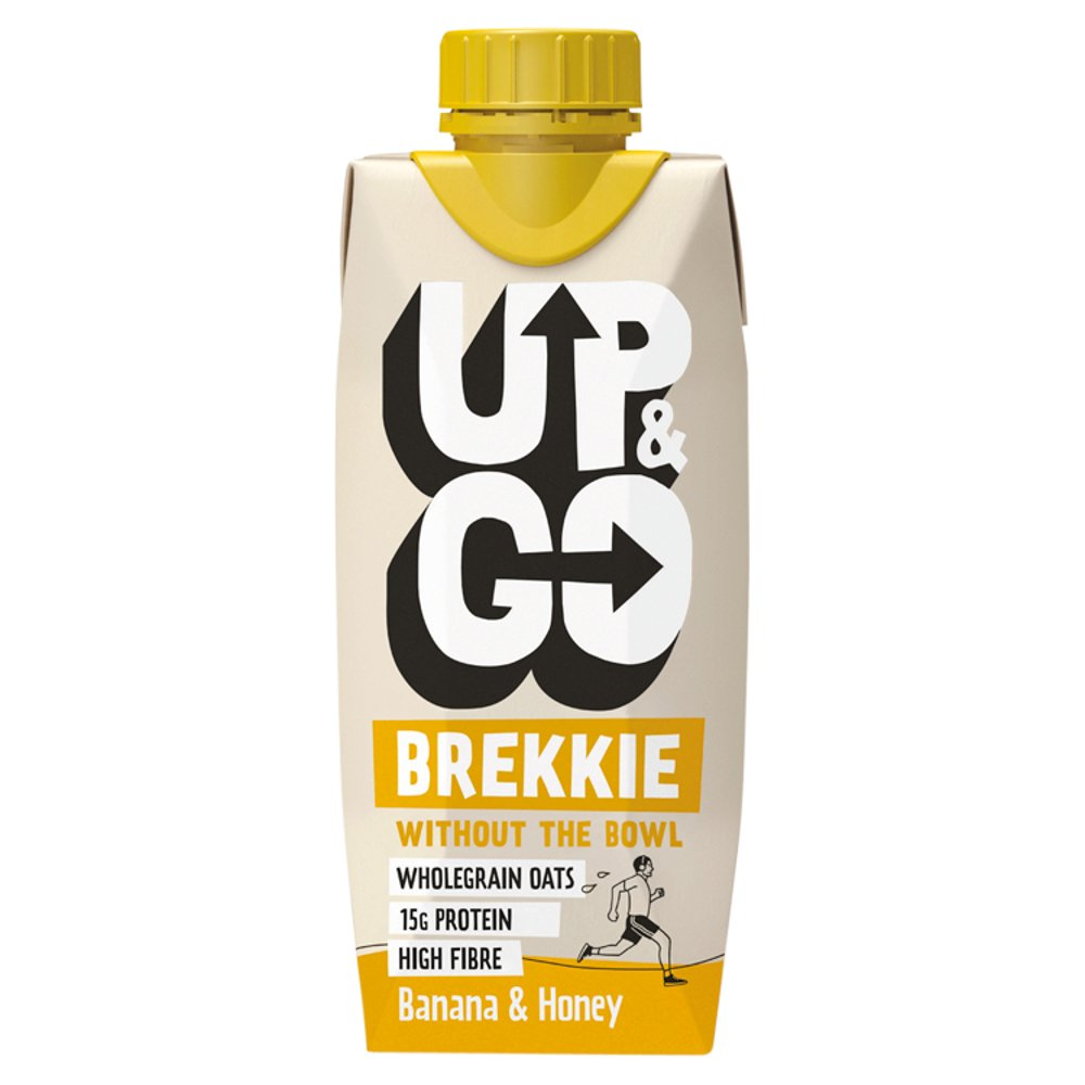 UP & GO Breakfast Drink Banana & Honey, 330ml (Case of 8)