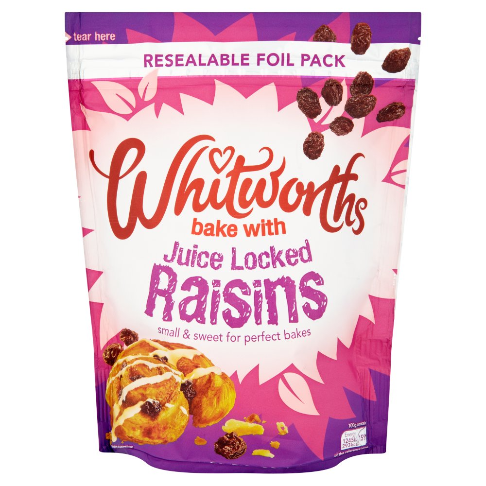Whitworths Bake with Juice Locked Raisins, 325g