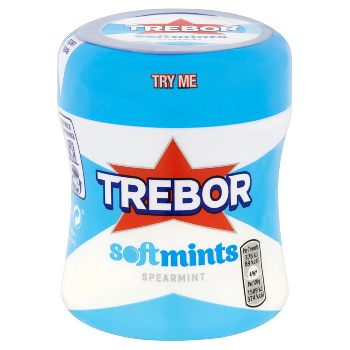 Trebor Softmints Spearmint Mints Bottle, 100g (Pack of 6)