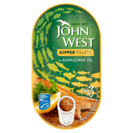 John West Kipper Fillets in Sunflower Oil, 160g