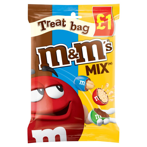 M&M's Mix Chocolate Treat Bag, 80g (Box of 16)