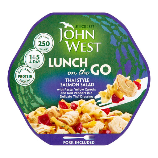John West Lunch on the Go Thai Style Salmon Salad, 220g (Case of 6)