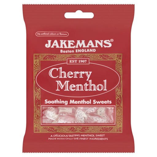 Jakemans Cherry Menthol, 100g (Box of 10)