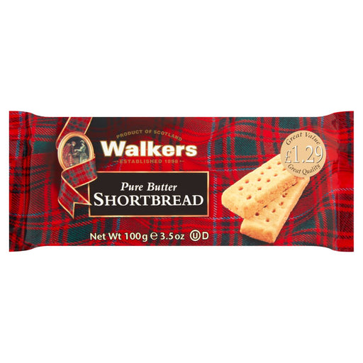 Walkers Pure Butter Shortbread, 100g (Box of 12)
