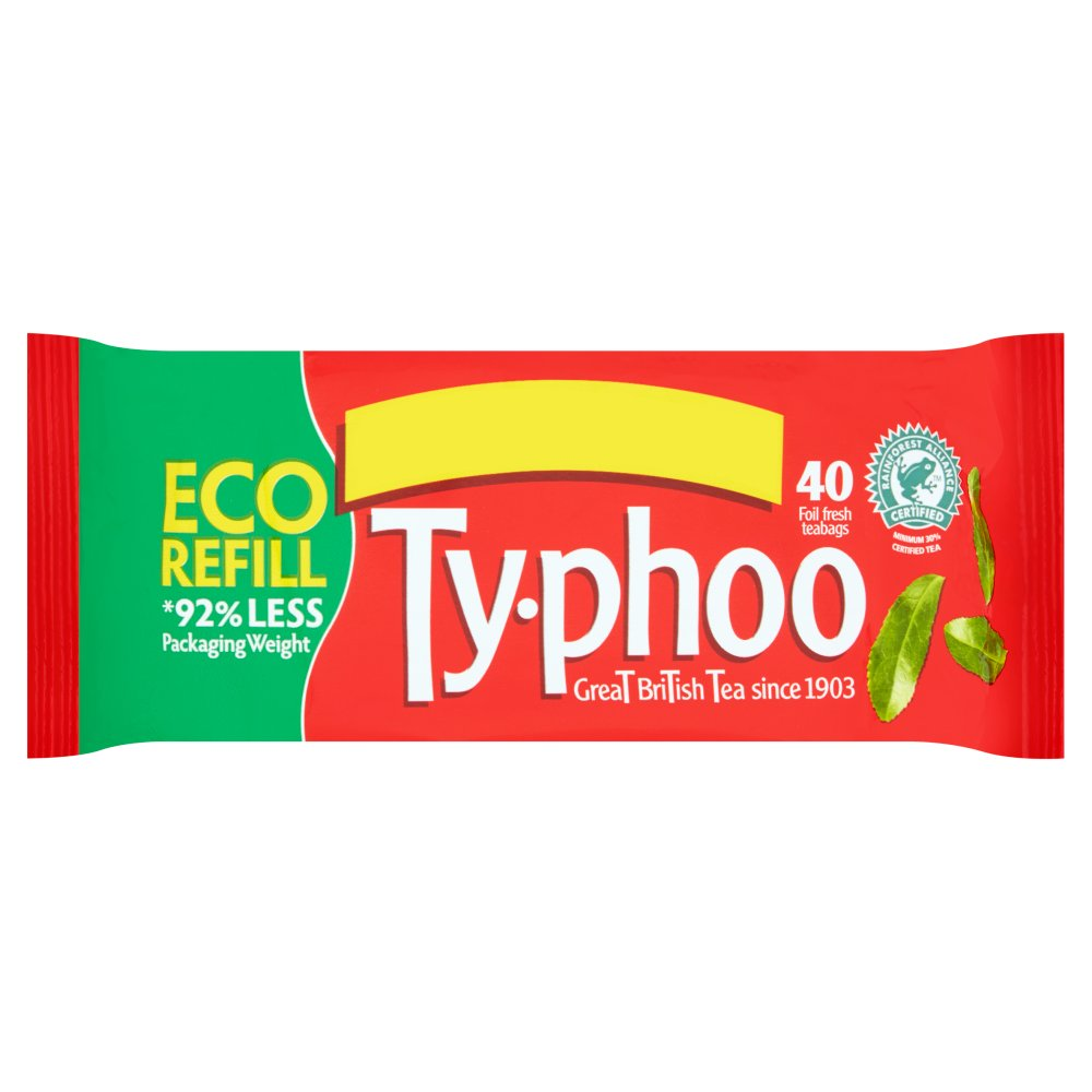 Typhoo 40 Foil Fresh Teabags, 116g (Box of 12)