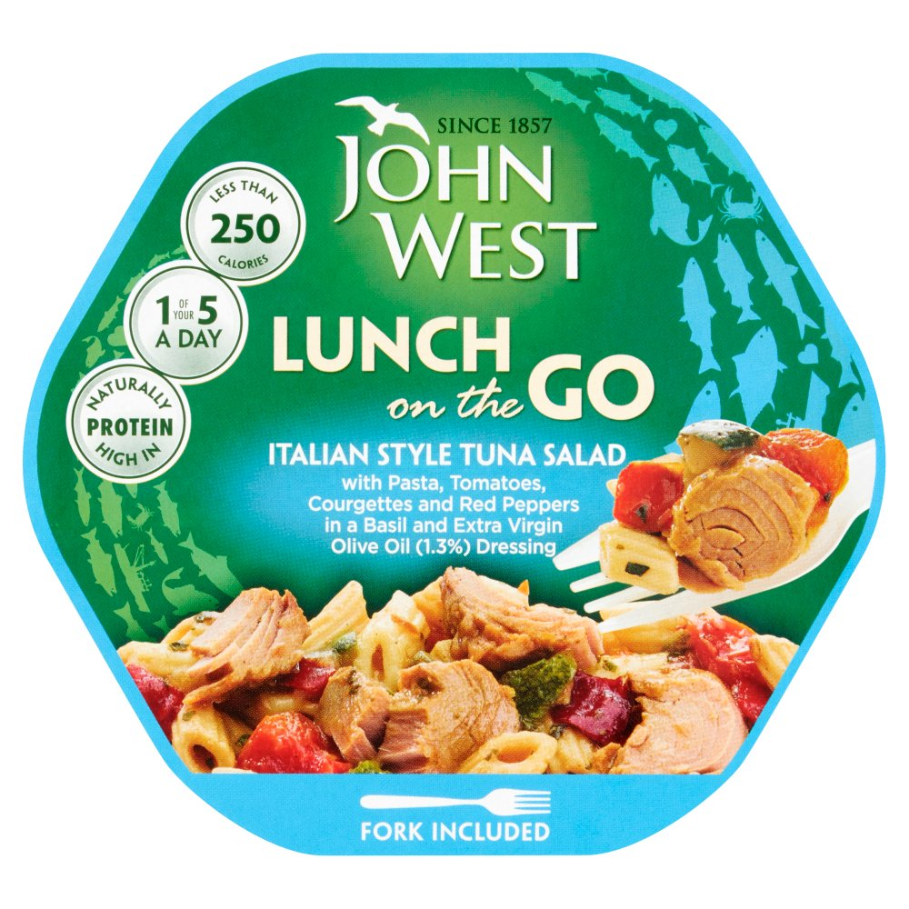 John West Lunch on the Go Italian Style Tuna Salad, 220g (Case of 6)