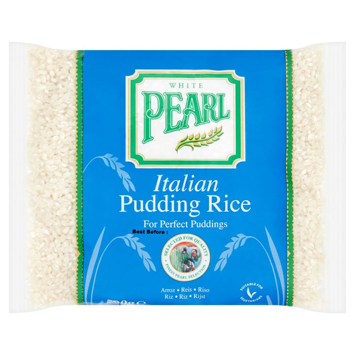 Case of 10 x White Pearl Italian Pudding Rice 500g.