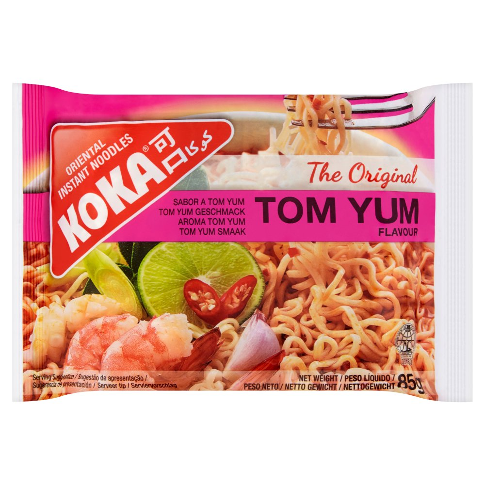 Koka Tom Yum Original Instant Noodles, 85g (Case of 30)