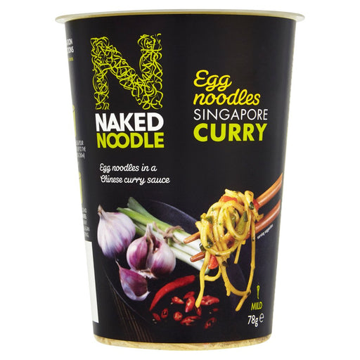 Naked Noodle Egg Noodles Singapore Curry, 78g (Pack of 12)