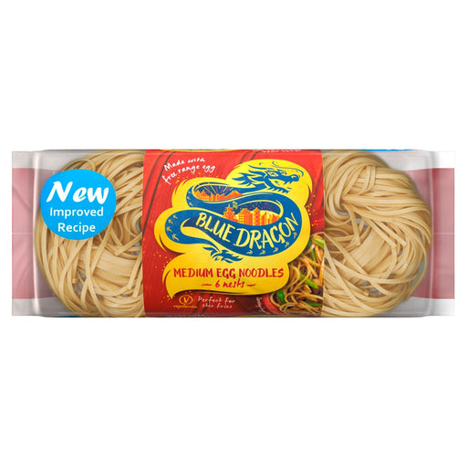 Blue Dragon 6 Medium Egg Noodles Nests, 300g (Pack of 8)