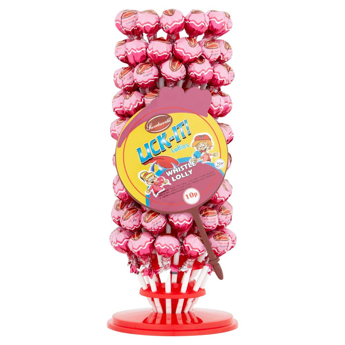 Sweetworld Lick-It! Whistle Lolly 12g (100+ Pieces)
