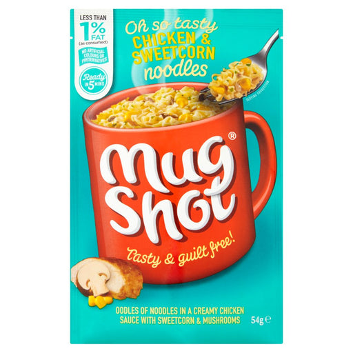Mug Shot Chicken & Sweetcorn Noodles, 54g (Pack of 10)
