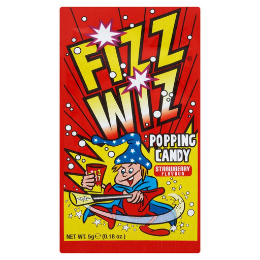 Fizz Wiz Popping Candy Strawberry Flavour, 5g (Pack of 50)