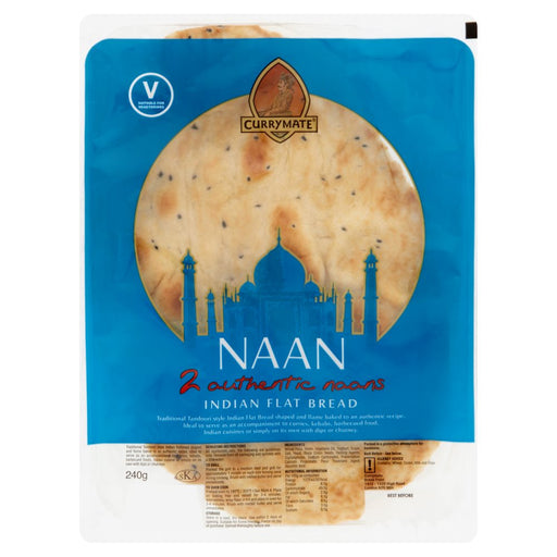 Currymate Plain Naan (Pack of 2)
