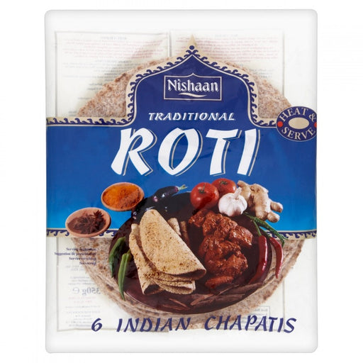 Nishaan Traditional Roti 6 Indian Chapattis, 350g