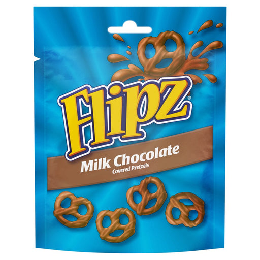 Flipz Milk Chocolate Covered Pretzels, 100g (Box of 6)