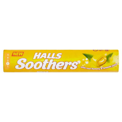 Halls Soothers Honey and Lemon, 45g (Pack of 5)