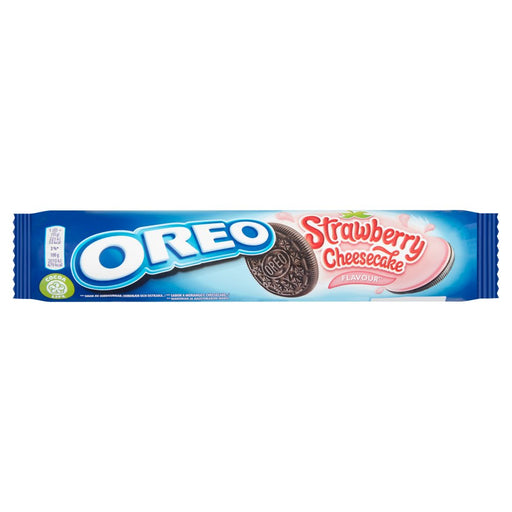 Oreo Strawberry Cheesecake Sandwich Biscuits, 154g (Box of 16)