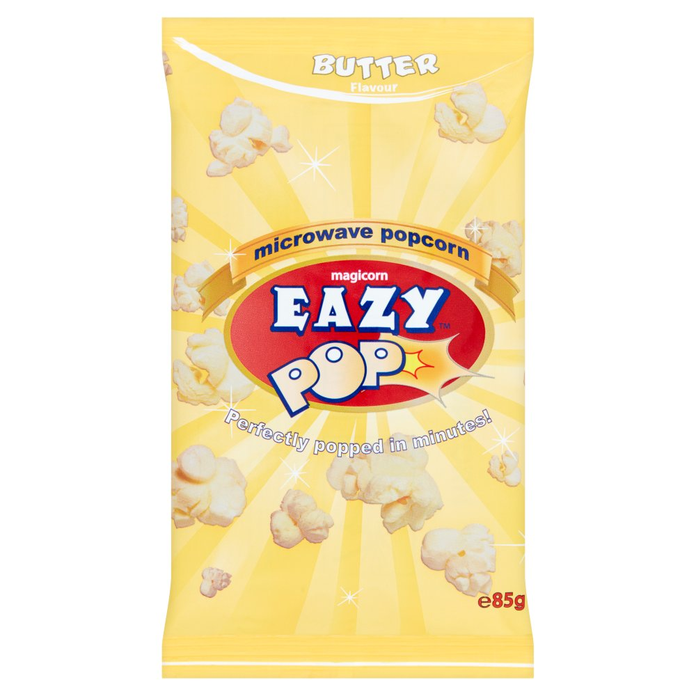 Eazy Pop Magicorn Butter Microwave Popcorn, 85g (Box of 16)