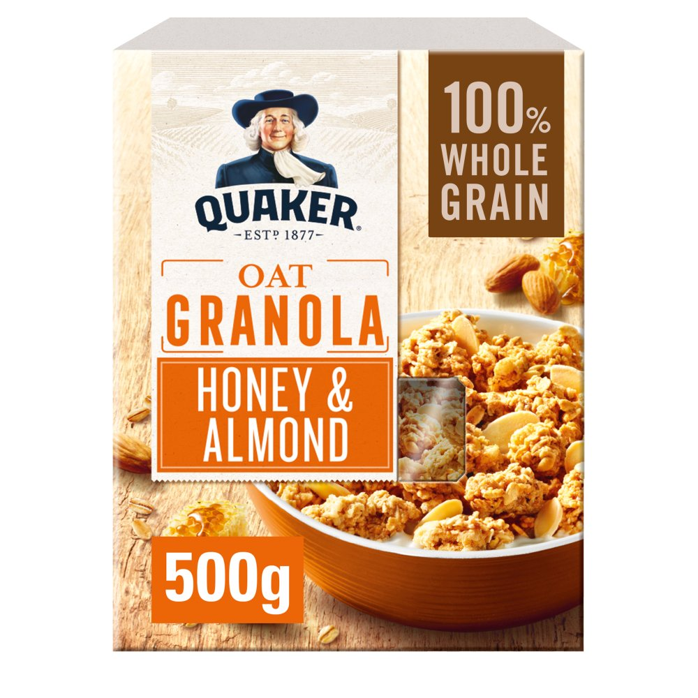 Quaker Oat Honey & Almond Granola, 500g